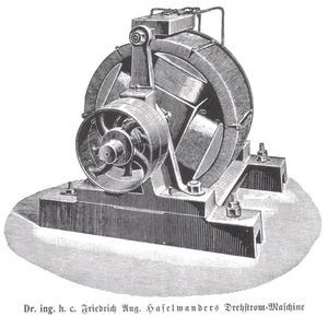 Haselwander S Synchronous Motor 1887